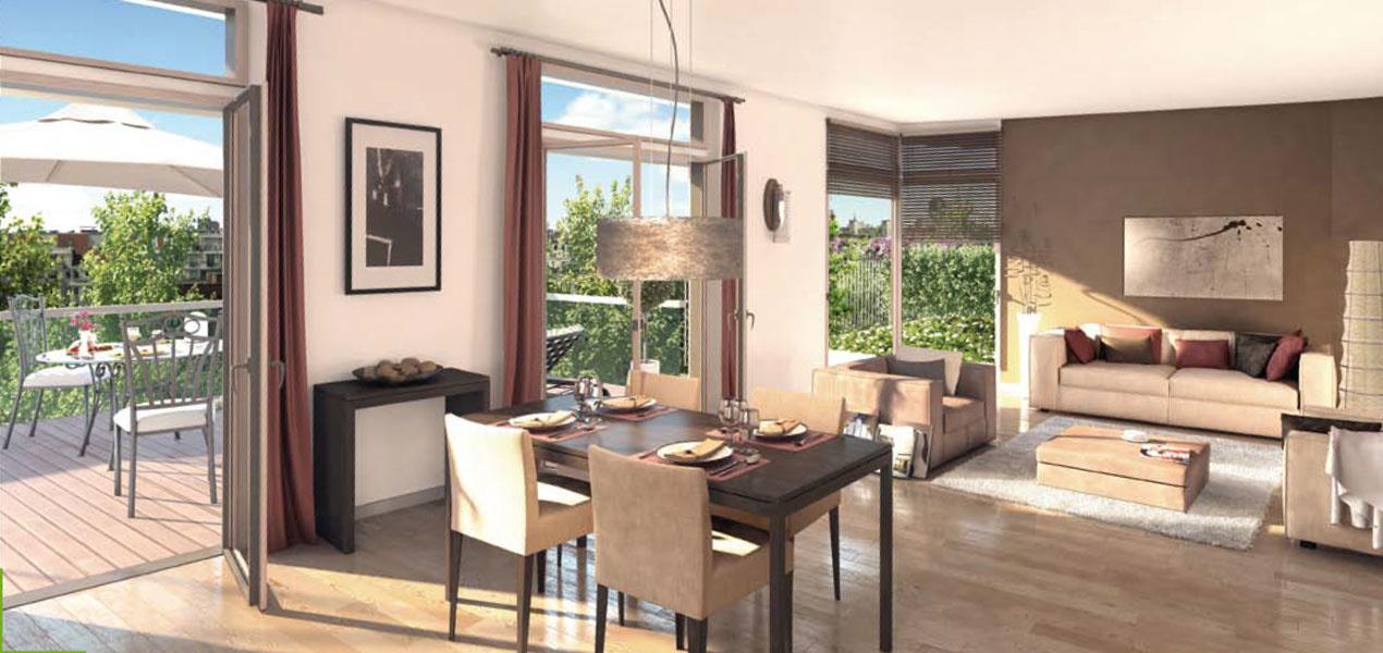 Appartement neuf t1 paris 15 co quartier boucicaut 1 for Prix appartement neuf
