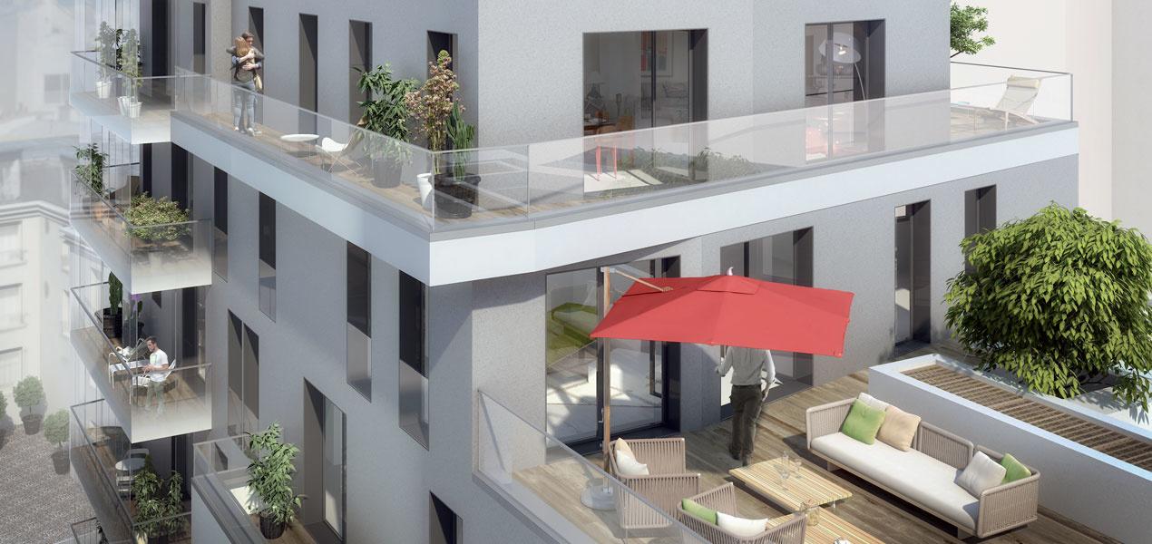 Appartement neuf t1 paris 15 proche convention 1 pi ces 75015 r f 1093 m dicis prestige - Appartement de luxe ando studio ...