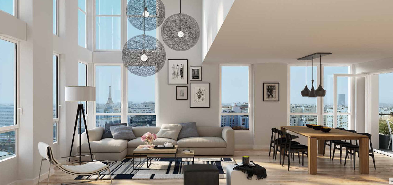 Appartement neuf t2 paris 17 parc martin luther king for Location appart meuble paris