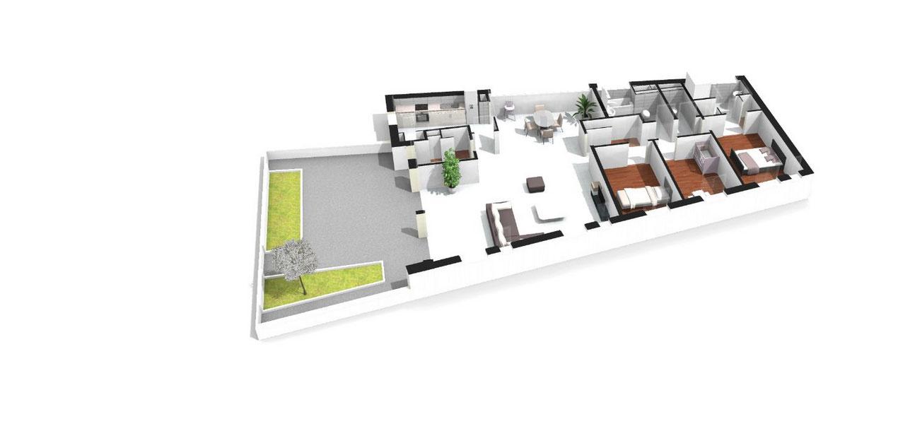 Plan Appartement De Luxe : Appartement neuf t à nogent sur marne baltard pièces
