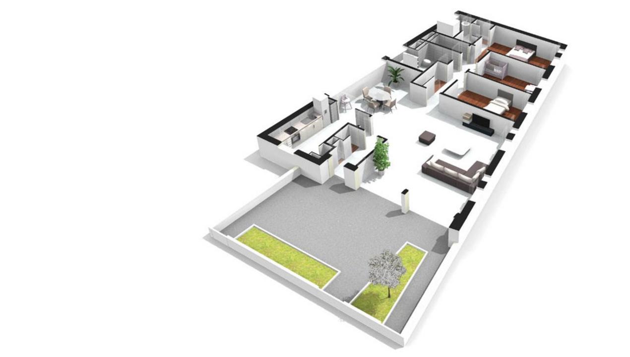 plan appartement de luxe