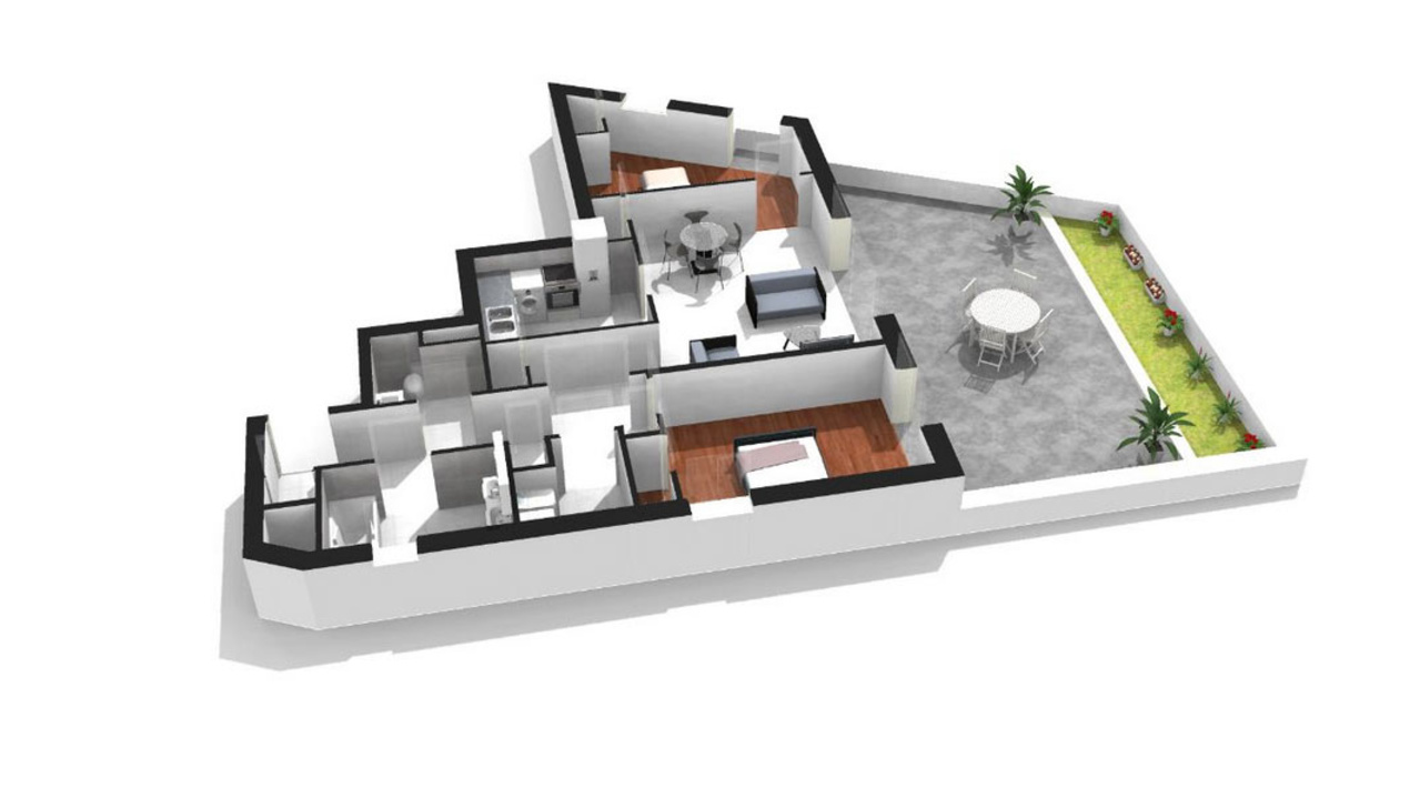 Plan appartement luxe for Plan appartement 3d