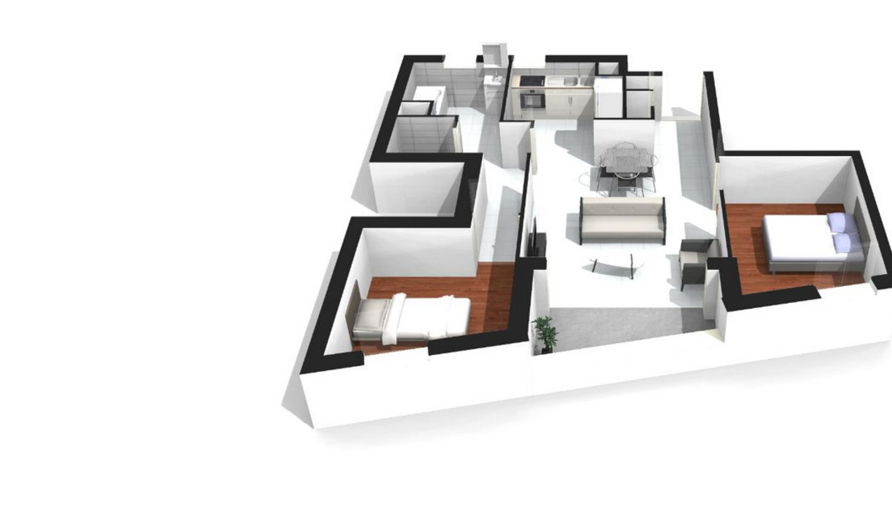 Plan Appartement De Luxe : Appartement neuf t à paris proche convention