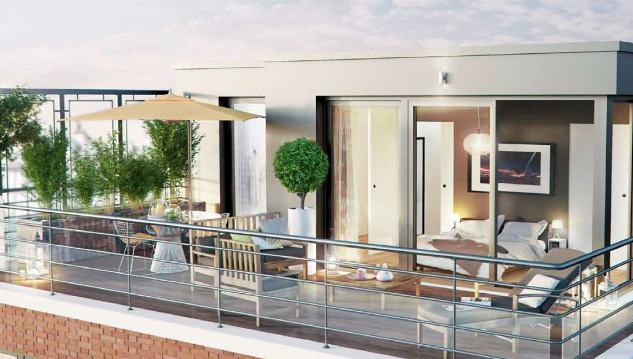 Immobilier de prestige ile de france for Immobilier terrasse paris