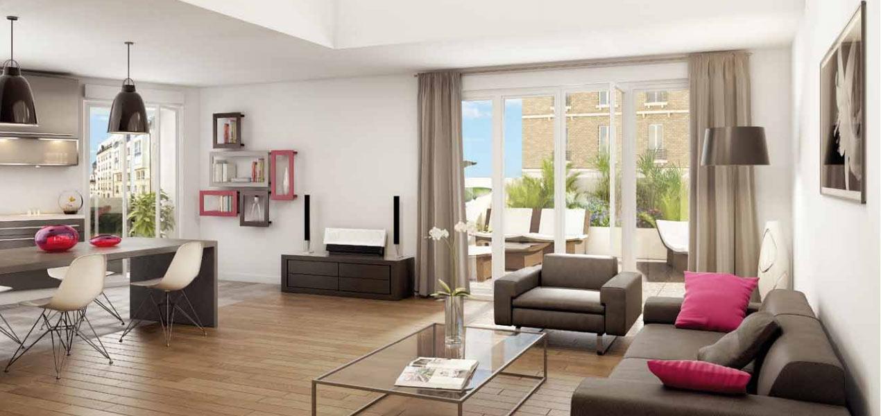 Appartement neuf t3 paris 14 al sia 3 pi ces 75014 for Prix appartement neuf
