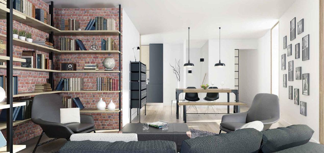 Appartement neuf t2 paris 19 face centquatre 2 pi ces for Appartement atypique 75019